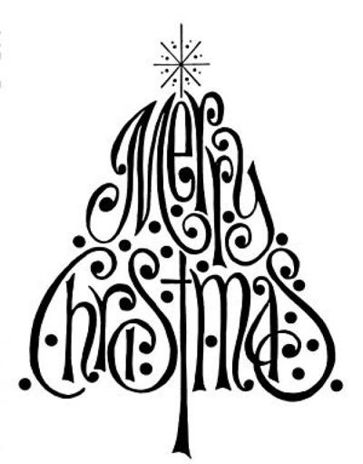 kerst kaart doodle