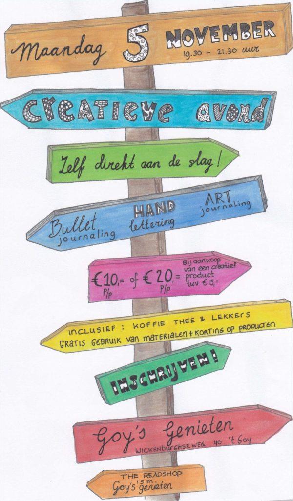 Creatieve Inspiratieavond aan onze Doodletafel i.s.m. The Readshop