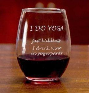 Yin yoga wijn